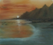 Sunset at Steephill Cove I.O.W